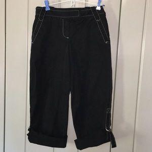 Ann Taylor Loft Black Cotton Capris Size 6P